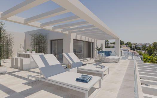 ARFA1201 - Apartamentos modernos para la venta cerca de El Paraíso en Estepona
