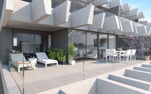 ARFA1210 - Se están construyendo modernos apartamentos y áticos en la Nueva Milla de Oro de Estepona