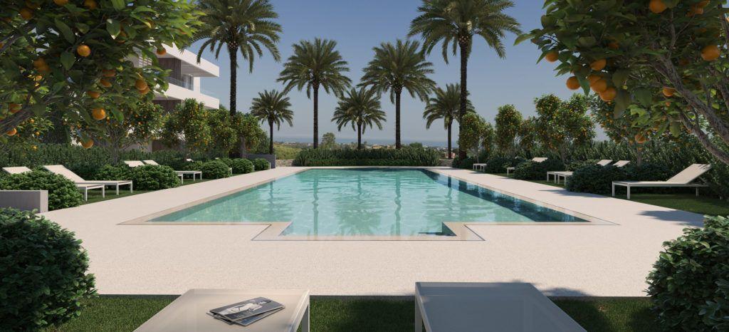 ARFA1227 - 24 modernos apartamentos en venta en Los Arqueros en Benahavis