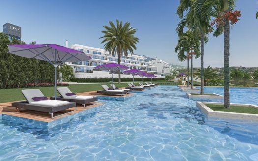 ARFA1349 - Nuevo proyecto de construcción de apartamentos y áticos en venta en Calanova Golf en Mijas