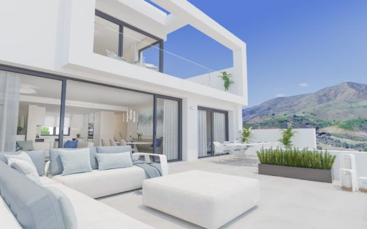 ARFA1243-1 - Proyecto de nuevos apartamentos y áticos en venta en La Cala Golf en Mijas