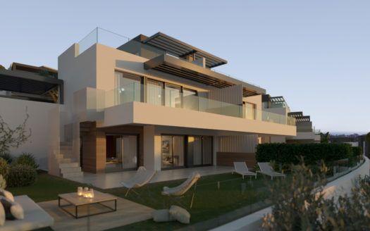 ARFV2121 - 50 villas dobles y casas adosadas a ser construidas cerca de la playa y varios campos de golf en Benahavis