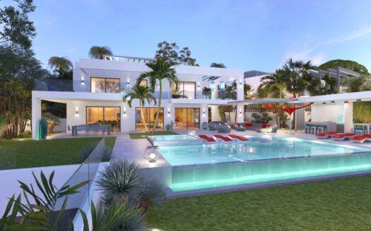 ARFV2174 - Villa contemporánea frente a la playa con vistas panorámicas en venta en Marbesa en Marbella