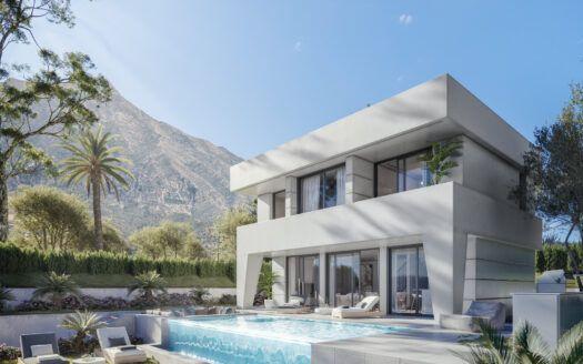 ARFV2178 Proyecto para 14 villas de lujo con diseño moderno y fresco en La Duquesa Golf en Manilva