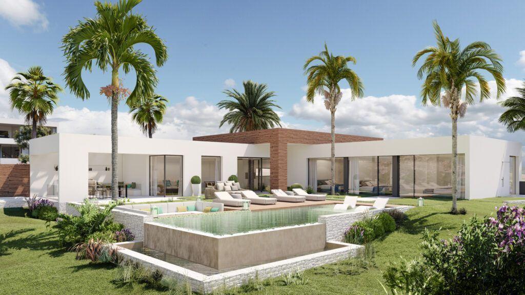 ARFV2185 Proyecto para villa de diseño con vistas privilegiadas en Altos de los Monteros en Marbella