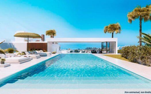 ARFTH172 - Adosados en venta en Rio Real en Marbella con vistas panorámicas