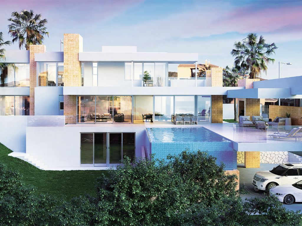 ARFP467 Parcela con proyecto aprobado para una villa moderna en Elviria